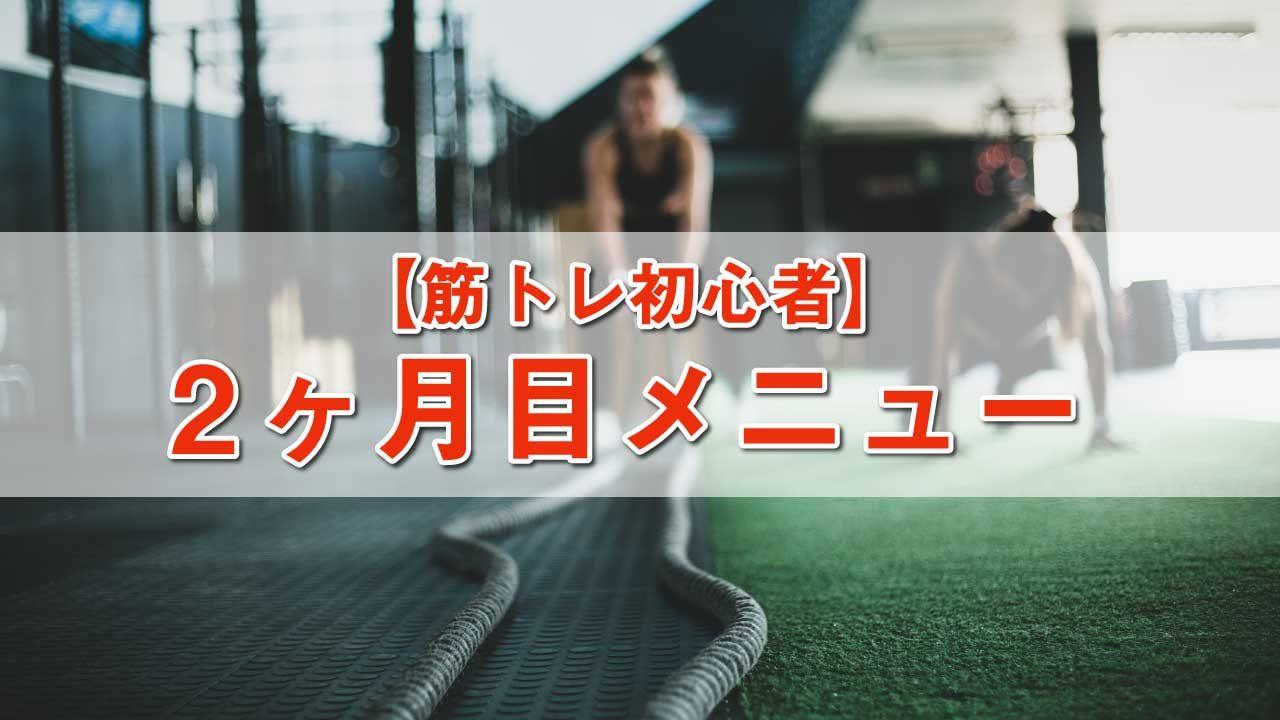 筋トレ初心者メニュー-2ヶ月目